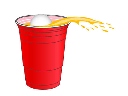 Beer Pong Shot Vector