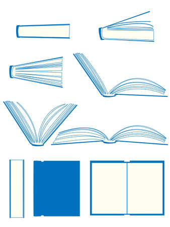phrase novel: Books Illustration Set Illustration