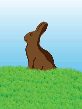 Eastern Chocolate Bunny Card