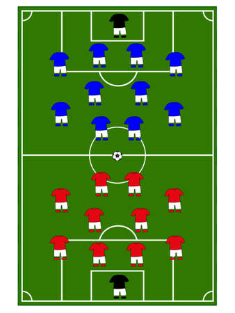 attacker: Football Teams Formation Illustration