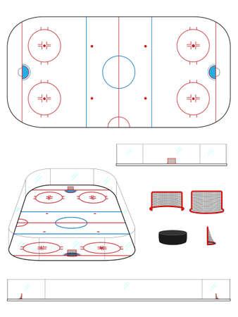 goal cage: Hockey Rink
