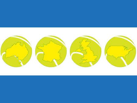 Tennis Map Balls Stock Vector - 20842260