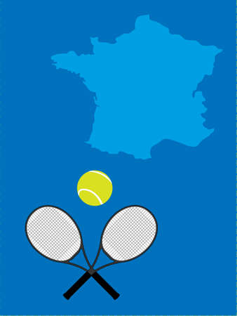 Tennis Map France Stock Vector - 20842267