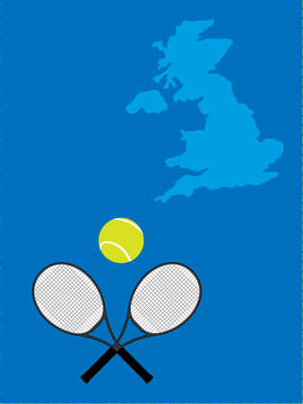 Tennis Map United Kingdom Stock Vector - 20842298