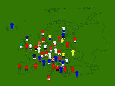 jersey: Europe Football Map
