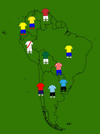 South America Football Map