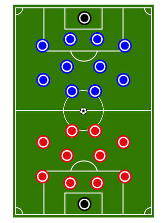 offside: Football Teams Formation Circles