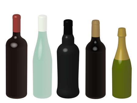 Wines of Europe Without Labels 3D