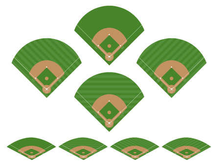 Set of Baseball Fields 2 Stock Vector - 21048385
