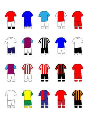 English League Clubs Kits 2013-14 Premier League Stock Vector - 21050157