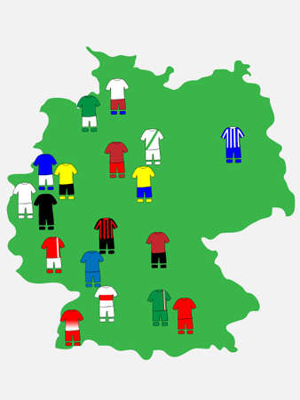 qualify: German League Clubs Map 2013-14 Bundesliga