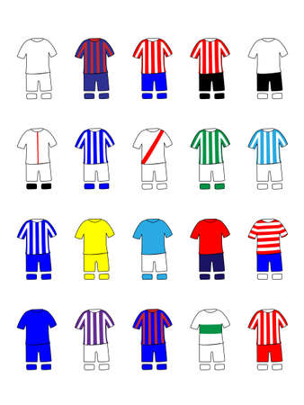 Spanish League Clubs Kits 2013-14 La Liga Illustration