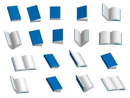 Books 3D Set Stock Vector - 22105915