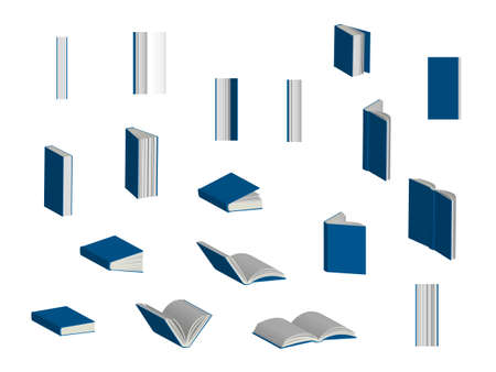 Books 3D Set Stock Vector - 22105916