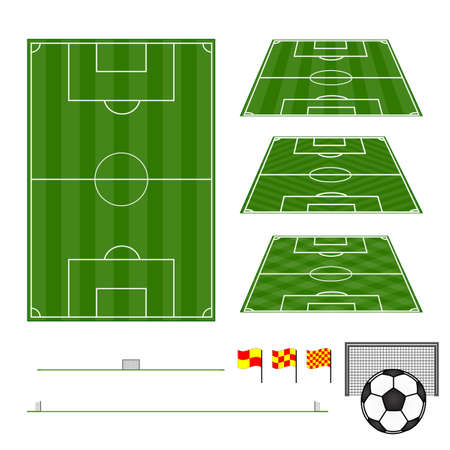 Football Fields Vertical and Diagonal Patterns Vector