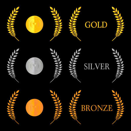 Laurel Wreath Medals 2 Vector
