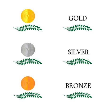 Laurel Wreath Medals  Vector