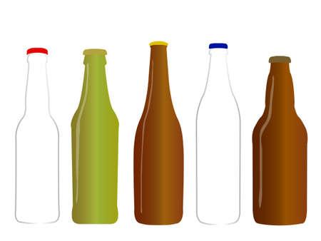 Different Kinds of Beer Empty Bottles Stock Vector - 22773368
