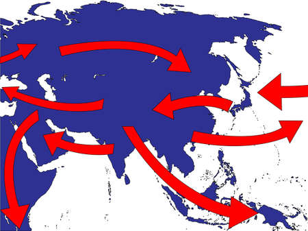 Asia Expansion Market Trade Routes Business Map