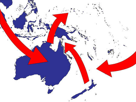 oceania: Oceania Expansion Market Trade Routes Business Map