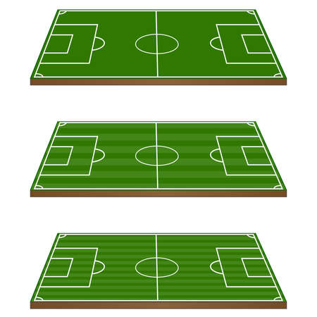 offside: Set of Football Fields 3D Perspective 1