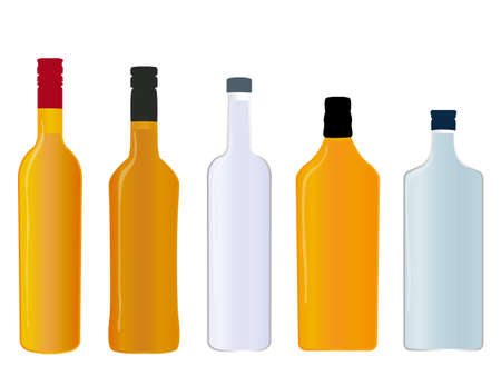 scotch: Different Kinds of Spirits Full Bottles