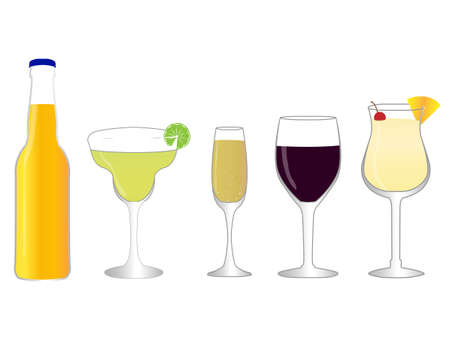 Isolated Drinks 2 Stock Vector - 23584370