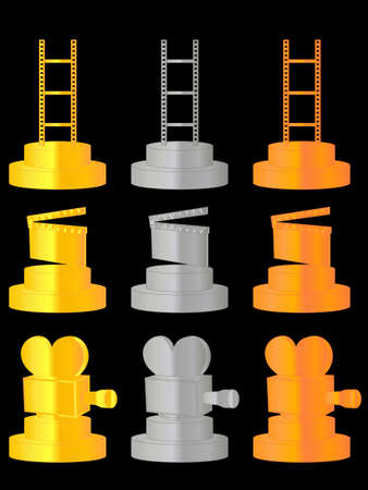 Film Trophies Vector