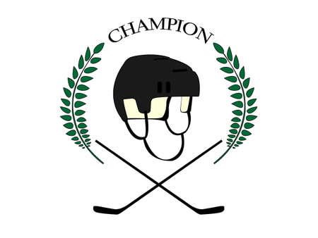 goal cage: Hockey Champion 1 Illustration