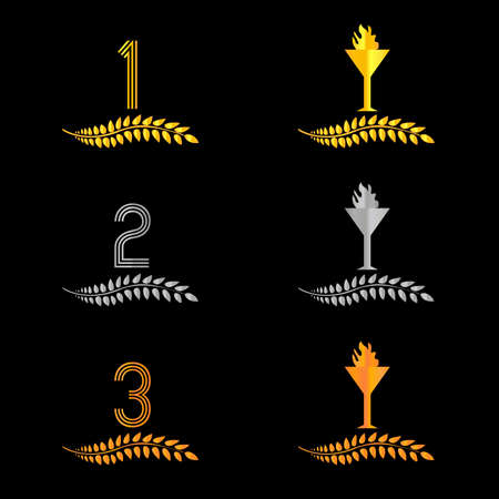 Finishing Places Laurel Wreaths  Vector