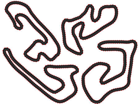 Race Tracks 4 Vector
