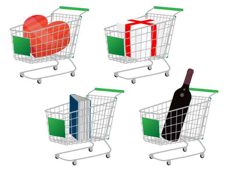 costumer: Green Shopping Cart Gifts Without Ribbon Bows