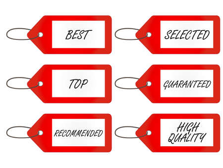 Quality Tags 1 Red Vector
