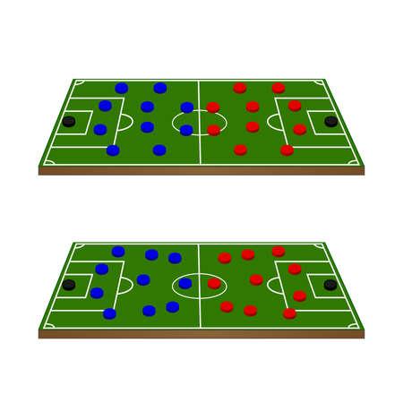 Football Teams Formation Circles 3D Perspective Stock Vector - 23713193