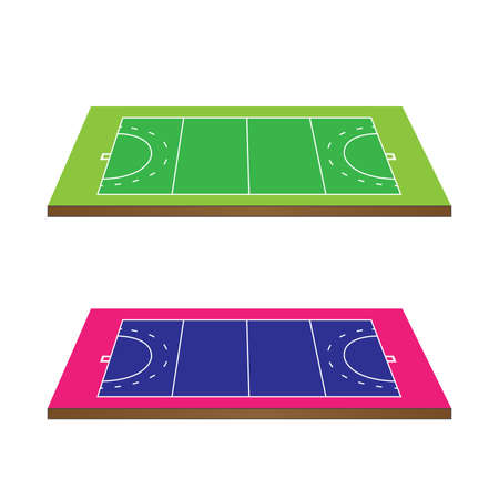Hockey Fields 3D Perspective