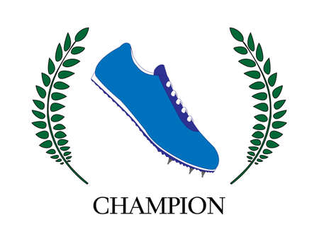 race winner: Athletics Champion Illustration