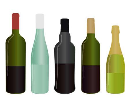 champagne celebration: Wines of Europe Half Full Bottles