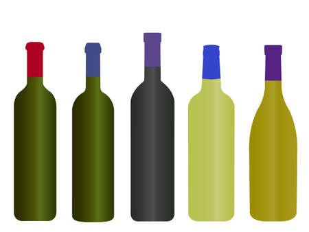 napa: Wines of the World Empty Bottles Illustration