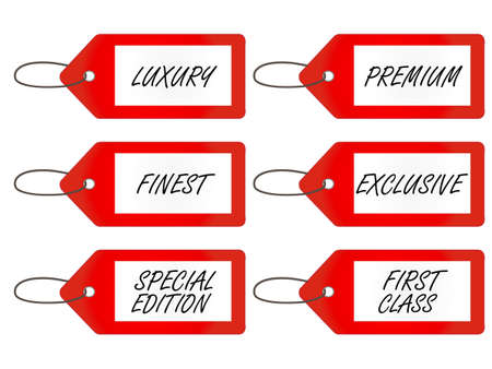 art product: Luxury Tags  Red Illustration