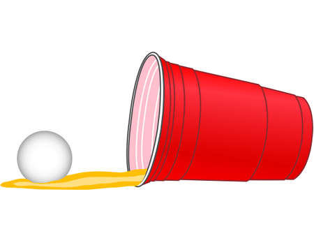 Beer Pong Spill Stock Vector - 24220114