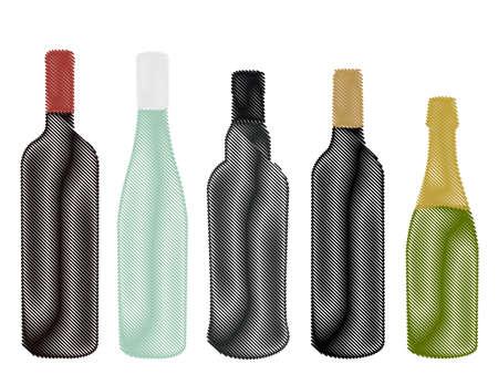 tuscany vineyard: Wines of Europe Pencil Style
