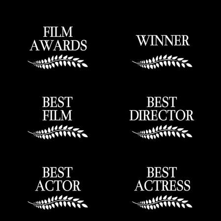 Film Winners Black and White  Vector