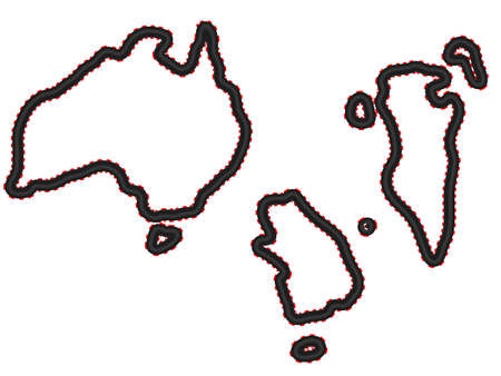 Racing Tracks Maps   Australia Bahrain Korea Vector