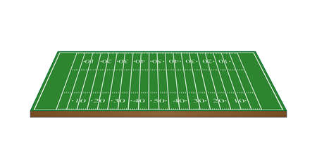 football field: American Football Field 3D Perspective