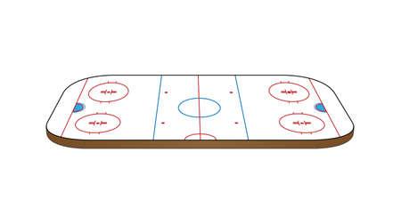 hockey rink: Hockey de Hielo Perspectiva 3D