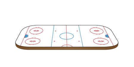 Hockey Rink 3D Perspective Vector