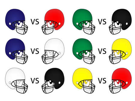 scrimmage: American Football Matches Illustration