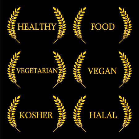 Healthy Food Laurels 2 Vector