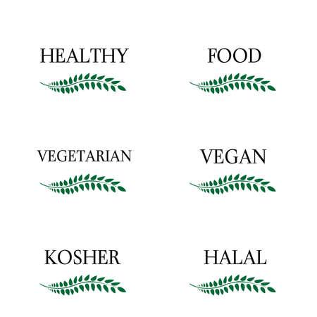 Healthy Food Laurels 3 Vector