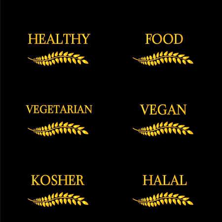 Healthy Food Laurels 4 Vector
